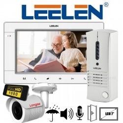 Kit Portero Visor Leelen 7 LCD Slim + Camara Full HD Metal