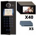 "KIT Porterovisor IP 40 Departamentos Pantalla LCD 7"" Alarma"