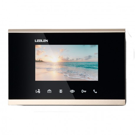 "Monitor IP 4.3"" LCD TouchsButton Portero Visor SPOE Alarmas"