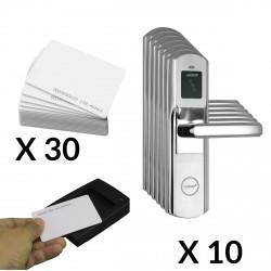 Kit Cerraduras para Hotel 10 puertas Software y codificador